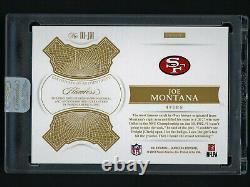 2019 Panini Flawless Distinguished Joe Montana Auto Jersey Patch #5/5 49ers