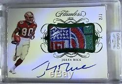 2019 Panini Flawless Football Jerry Rice NFL shield Patch Auto
