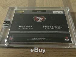 2019 Panini Instant NFL Shield Patch Combo Nick Bosa Deebo Samuel #1/1 49ers