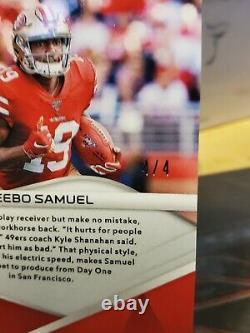 2019 Panini Spectra Neon Marble Deebo Samuel 4/4 ROOKIE San Francisco 49ers