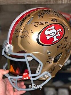 2019 San Francisco 49ers Team Signed Full Size Speed Helmet Bas Loa #1982502