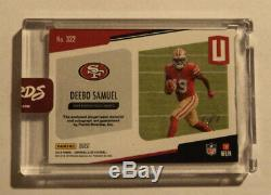 2019 Unparalleled #322 Deebo Samuel RC Auto 1/1 Nike Tag BURST Autograph ROOKIE