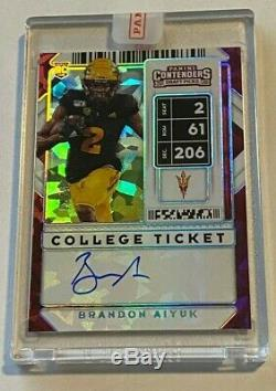 2020 Contenders BRANDON AIYUK College Ticket Cracked ICE 49ers Rookie Auto 5/23