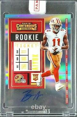 2020 Contenders Brandon Aiyuk Auto Rookie Clear Ticket RPS Mosaic Variation #1/1