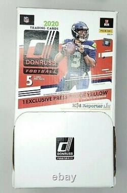 2020 DONRUSS NFL Football Dollar Tree Gravity Feed Box 48 Packs New Sealed Box