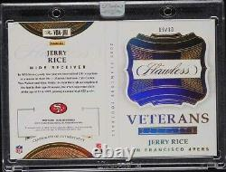 2020 Flawless BOOKLET Game Jersey GOLD PATCH Auto #d /10 JERRY RICE Immaculate