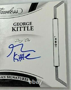 2020 Flawless Collegiate GEORGE KITTLE Team Slogan AUTO #1/1 HAWKEYES 49ERS