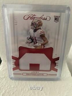 2020 Flawless NFL-Rookie Jersey Patch Brandon Aiyuk 11/15 Jersey Number Card