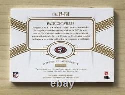 2020 Flawless PATRICK WILLIS #d 1/3 EMERALD AUTO JERSEY PATCH 2 COLOR 49ERS SSP