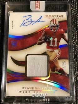 2020 Immaculate Brandon Aiyuk Rookie Auto Patch RPA 17/25