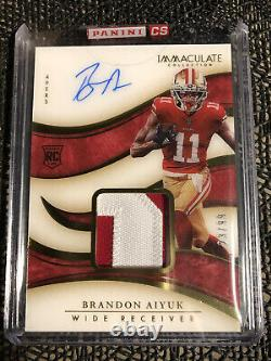 2020 Immaculate Brandon Aiyuk Rookie Auto Patch RPA 23/99