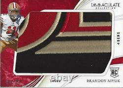 2020 Immaculate Collection Rookie Logos #23 Brandon Aiyuk Patch /24