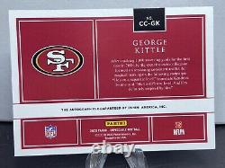 2020 Impeccable Canvas Creations GEORGE KITTLE AUTO #d/25! 49ers
