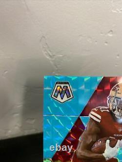 2020 Mosaic Brandon Aiyuk Rookie Card Blue Florescent 1/15 SF 49ers