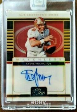 2020 PANINI ONE MATCHLESS STEVE YOUNG GOLD 2/2 AUTO 49ER Very Rare Sealed