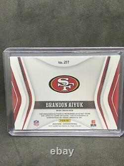 2020 Panini Certified Brandon Aiyuk Freshman Fabric RPA NFL SHIELD 1/1 49ers