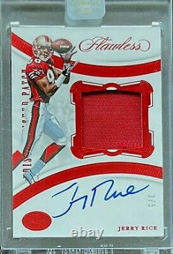 2020 Panini Flawless JERRY RICE Encased Patch #'D 3/5 AUTO San Francisco 49ers