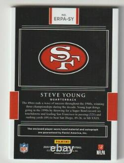 2020 Panini Impeccable Football Elegance Steve Young AUTO Autograph Patch /10