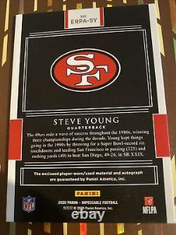 2020 Panini Impeccable Football Elegance Steve Young AUTO Autograph Patch 3 / 5