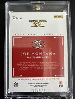 2020 Panini Impeccable JOE MONTANA Super Bowl Champions Auto /5 eBay 1/1 49ers
