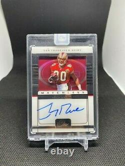 2020 Panini One Football Jerry Rice Matchless Auto on Card 4/5 ENCASED