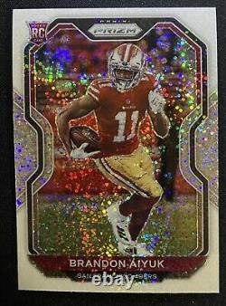 2020 Prizm Brandon Aiyuk Rookie Card RC White Sparkle SSP Prizm #301 49ers /20