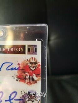 2020 Randy Moss/Jerry Rice/Larry Fitzgerald #d/5 INKPECCABLE TRIOS AUTO CARD