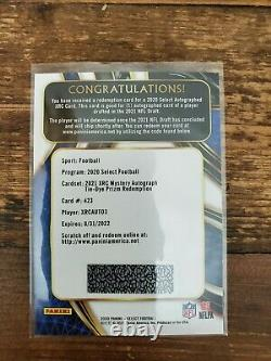 2020 Select XRC Mystery Auto 3 Trey Lance TIE-DYE Prizm #d /25 Redemption 49ers