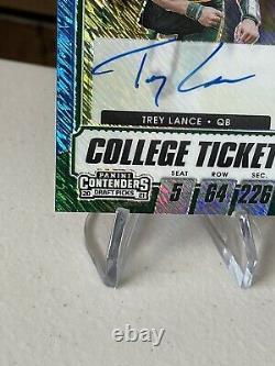 2021 Contenders Draft Picks Fotl Trey Lance Auto Rookie Blue Shimmer 18/27
