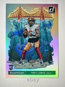 2021 Donruss Downtown! #35 Trey Lance San Francisco 49ers SSP