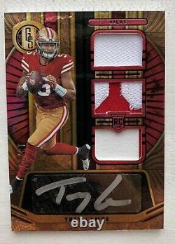 2021 Gold Standard RC Rookie 3 patch RPA Trey Lance FOTL Exclusive 13/22 BANGER
