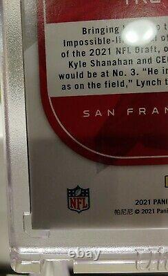 2021 Panini Certified Trey Lance Graffiti RC 1/1 Black Parallel 1 of 1 NFL