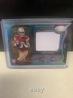 2021 Panini Certified Trey Lance Rookie Patch Auto Teal 9/10 RC #203 49ers