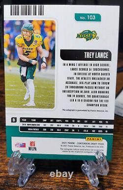 2021 Panini Contenders Draft Trey Lance College Ticket Cracked Ice Auto 12/23