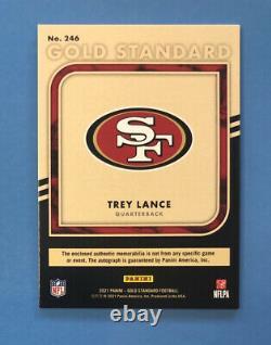 2021 Panini Gold Standard Football Trey Lance RC Dual Jersey Auto #23/75 49ers