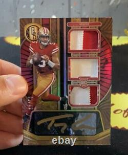 2021 Panini Gold Standard Trey Lance ROOKIE Patch Auto #1/49 Clean Card