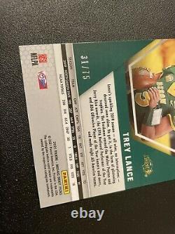 2021 Panini Mosaic Draft Trey Lance 31/75 RC Blue/Green Refractor 49ERS INVEST