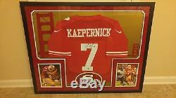 49ers Colin Kaepernick framed autographed jersey