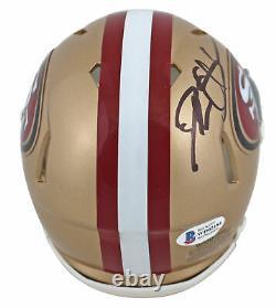 49ers Deion Sanders Authentic Signed Speed Mini Helmet Autographed BAS Witnessed