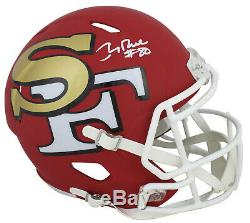 49ers Jerry Rice Authentic Signed Amp Full Size Speed Rep Helmet BAS Witnessed