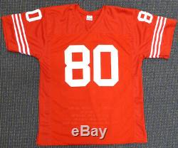 49ers Jerry Rice Autographed Signed Red Jersey With Stats Tristar 128945