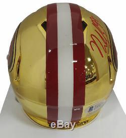 49ers Nick Bosa Authentic Signed Chrome Speed Mini Helmet BAS Witnessed