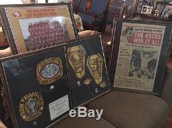 49ers Super Bowl XVI Origional Ring desings from balfour and much more Memorabil
