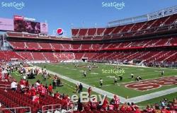 49ers vs. Lions 9-16-2018 Great Seats