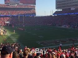 49ers vs Raiders 2 Tickets Sec 106 Row 25! 11/1/18