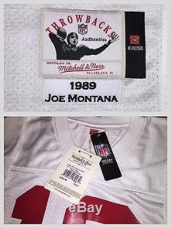 Authentic Mitchell & Ness Joe Montana SF 49ers Jersey Sz. 52 NWT