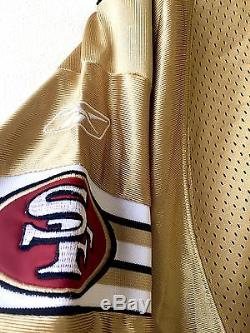 Authentic NFL Reebok Joe Montana San Francisco 49ers Gold Rare Jersey