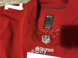 Authentic San Francisco 49ers #7 Colin Kaepernick Nike Sewn Adult 48 Jersey