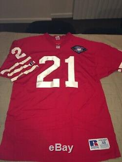 Authentic San Francisco 49ers Jersey Deion Sanders Russell Athletic 75th Sz 48
