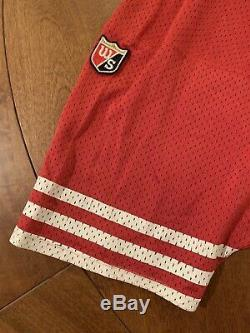 BLANK SAN FRANCISCO 49ERS WILSON Jersey PRO LINE RED NFL SEWN sz 48 RARE